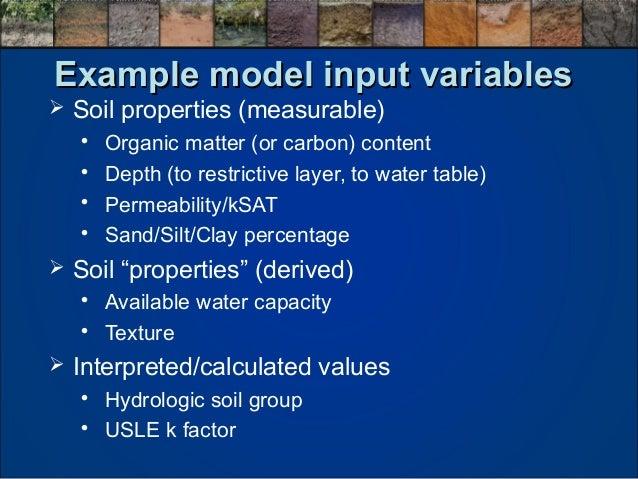 Michael robotham use of soils information for land for Soil k factor