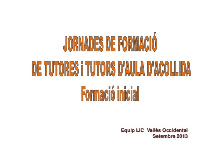 Equip LIC Vallès Occidental Setembre 2013