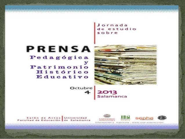 Conferência  Prensa pedagógica y patrimonio histórico educativo en España. Conceptualización y géneros textuales.  José Ma...