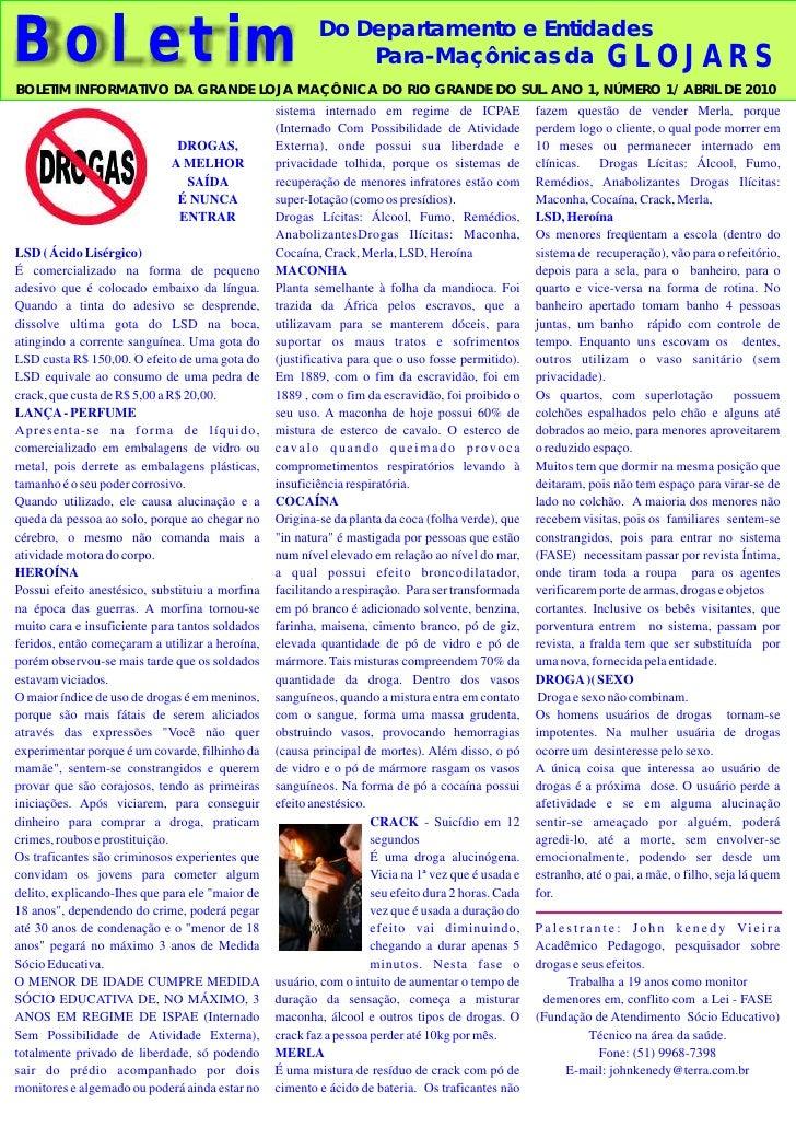 Do Departamento e Entidades Boletim                                                      Para-Maçônicas da GLOJARS BOLETIM...