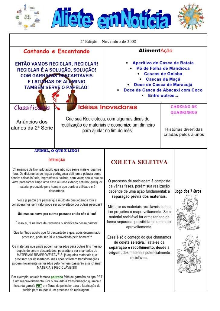 2º Edição – Novembro de 2008           Cantando e Encantando                                                             A...