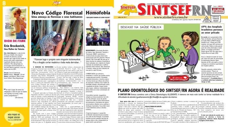 Jornal do SINTSEF/RN - Julho/2011