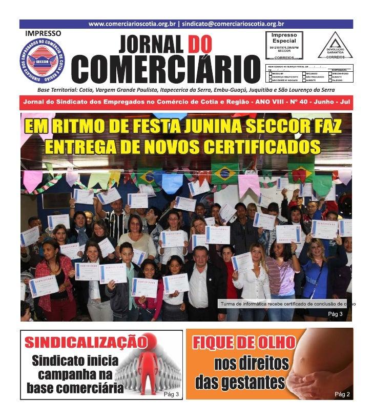 Jornal do Comerciário - Julho de 2012
