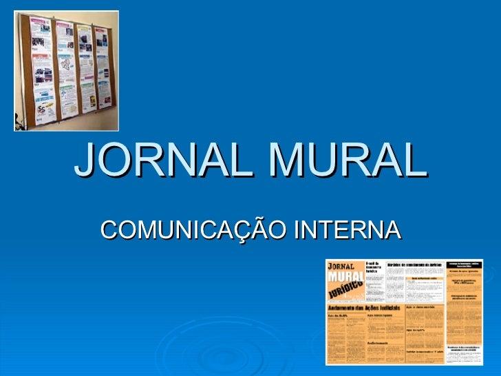 JORNAL MURAL COMUNICAÇÃO INTERNA