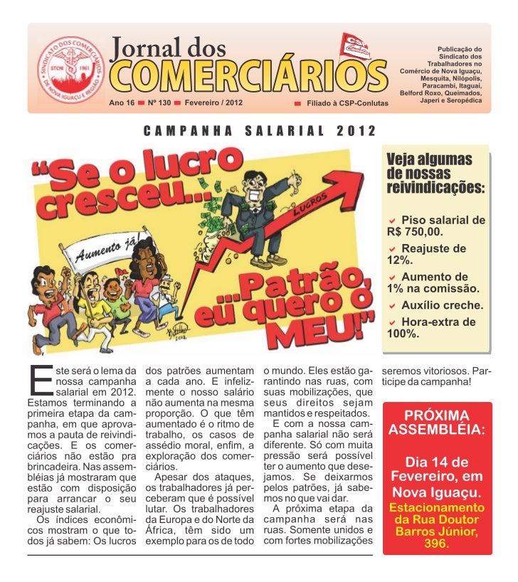 OPRESSÕES   Jornal de responsabilidade da diretoriacolegiada do Sindicato dos Trabalhadores no    Comércio de Nova Iguaçu,...