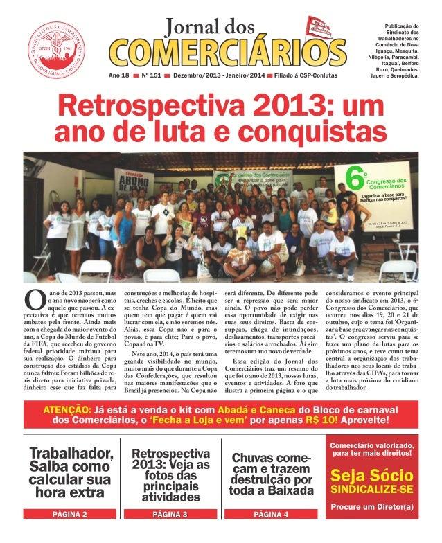 Jornal dos Comerciários - Nº 151 - Dezembro 2013 / Janeiro 2014