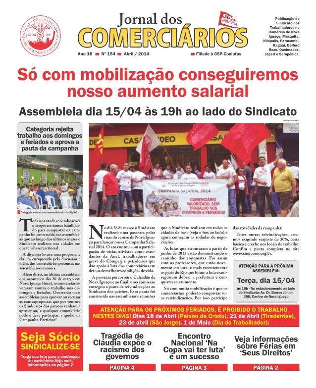 Jornal dos Comerciários - Nº 154 - Abril 2014