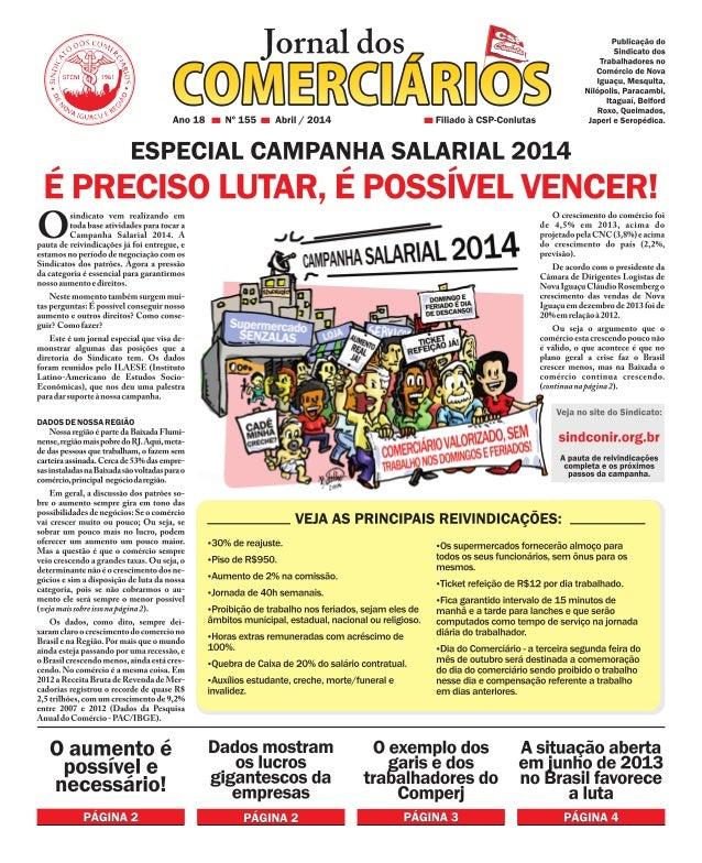 Jornal dos Comerciários - Nº 155 - Abril 2014 (especial)