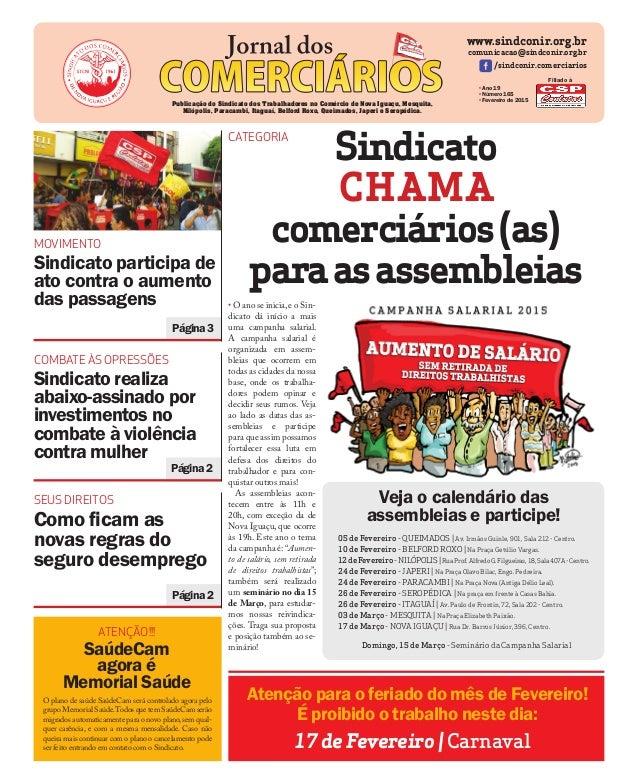 Página3 MOVIMENTO Sindicato participa de ato contra o aumento das passagens www.sindconir.org.br comunicacao@sindconir.org...