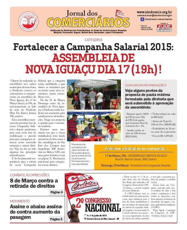 Página3 Página4 www.sindconir.org.br comunicacao@sindconir.org.br /sindconir.comerciarios •Ano 19 •Número 166 •Março de 20...