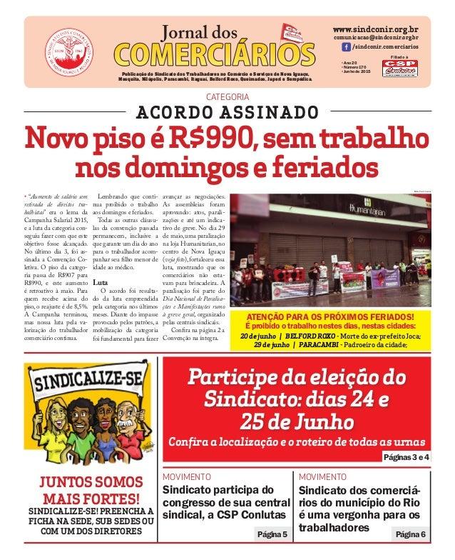 Páginas3e4 Participedaeleiçãodo Sindicato:dias24e 25deJunho www.sindconir.org.br comunicacao@sindconir.org.br /sindconir.c...