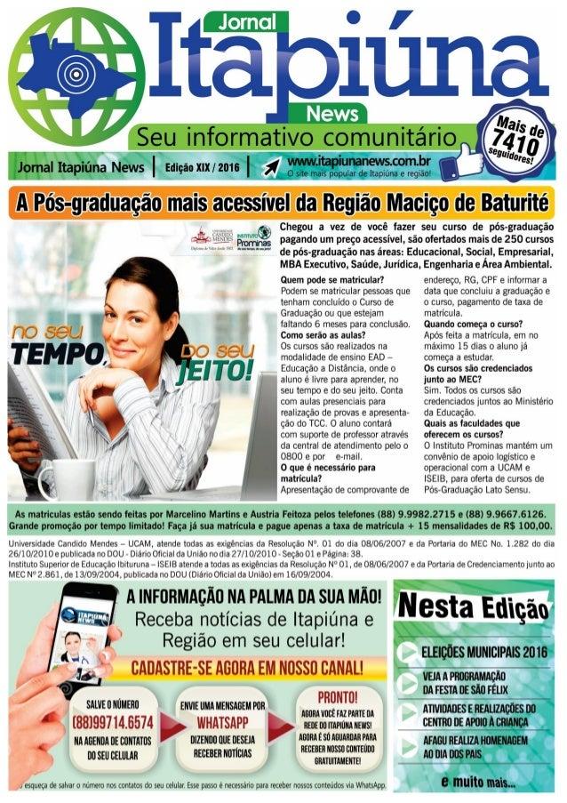 Jornal Itapiúna News edião XIX