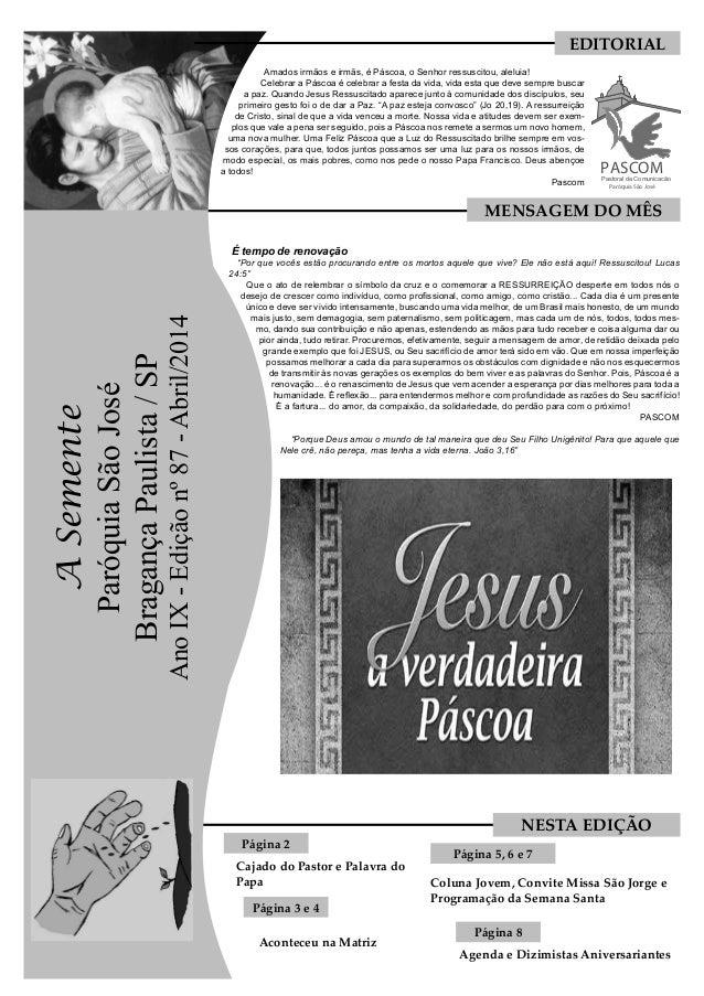 Amados irmãos e irmãs, é Páscoa, o Senhor ressuscitou, aleluia! Celebrar a Páscoa é celebrar a festa da vida, vida esta qu...