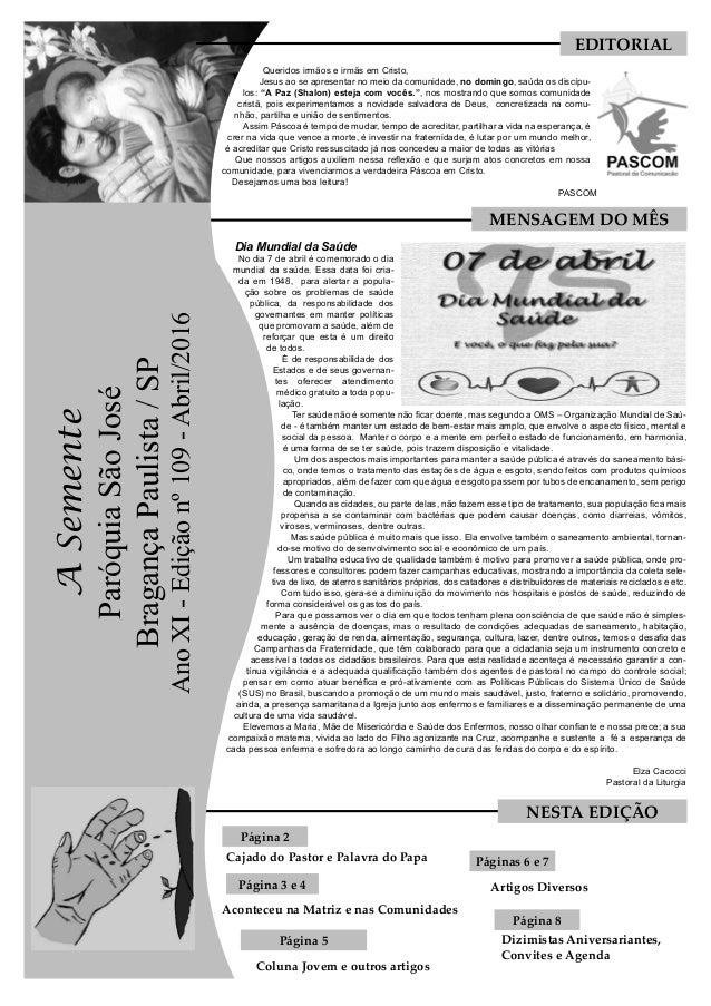 595c31a3c7 Coluna Jovem e outros artigos Dia Mundial da Saúde No dia 7 de abril é  comemorado ...