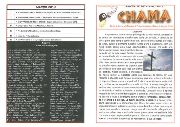 Jornal a Chama - Março 2012
