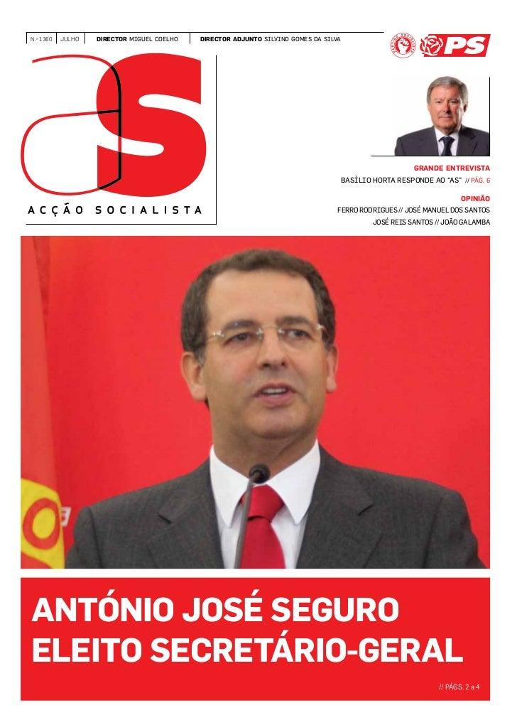 www.accaosocialista.net   accaosocialista@ps.pt  N.o 1360      julho            director miguel coelho   director adjunto ...