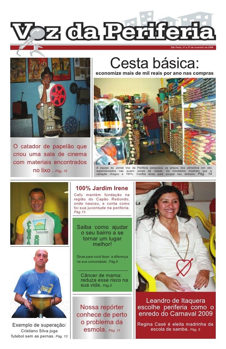 São Paulo, 21 a 27 de novembro de 2008                                                            Cesta básica:           ...