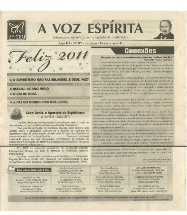 Jornal a voz espírita ano iii nº 7