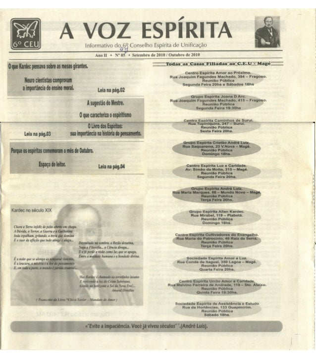 Jornal a voz espírita ano II nº 5