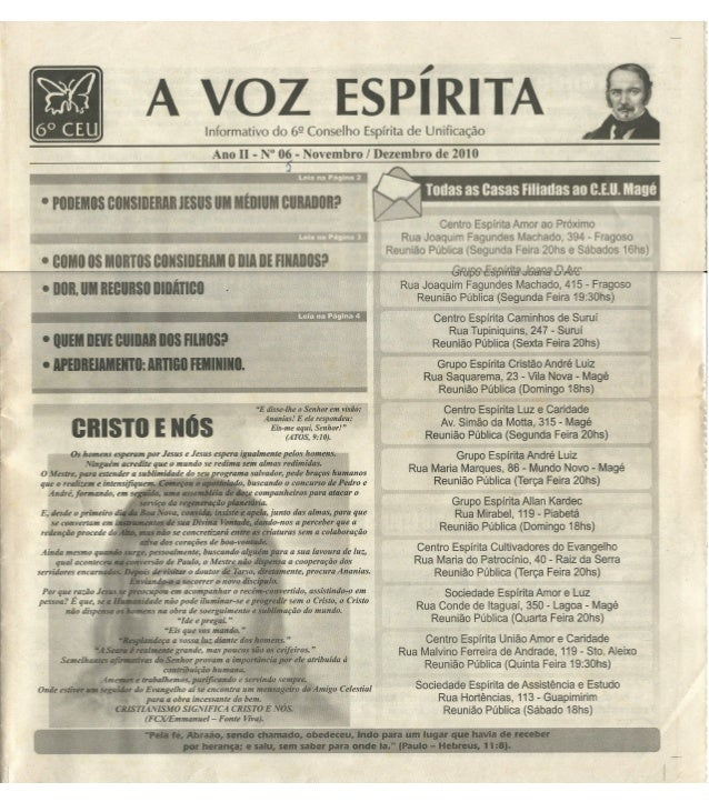 Jornal a voz espírita ano II nº 6