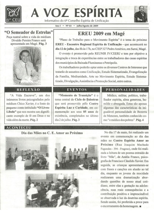 Jornal A Voz Espírita ano I nº 3
