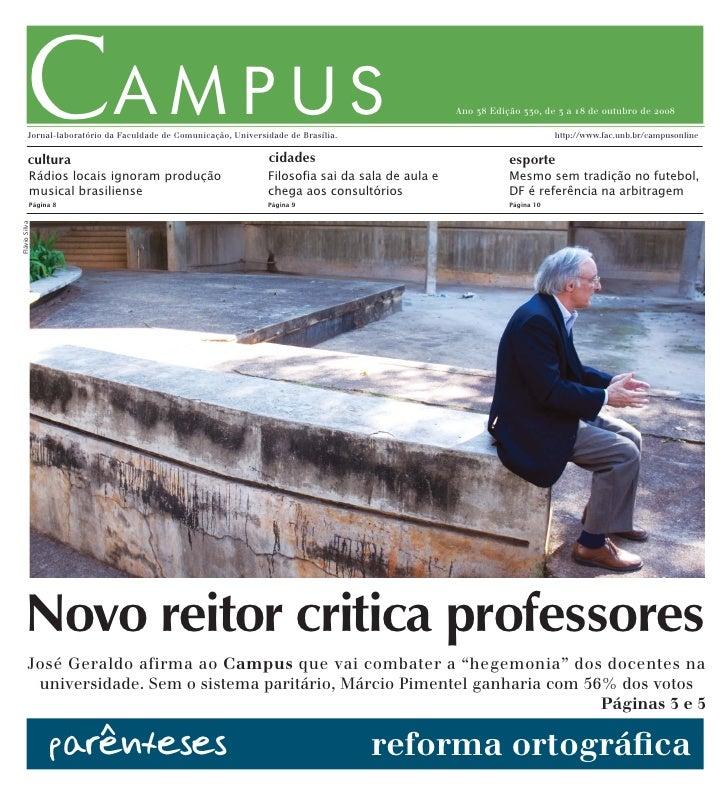 CAMPUS          Jornal-laboratório da Faculdade de Comunicação, Universidade de Brasília.            cultura              ...