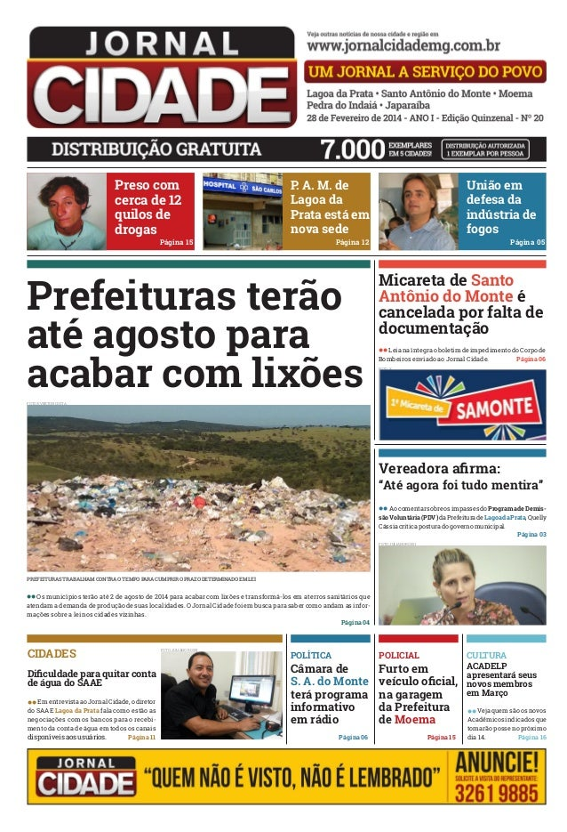 Preso com cerca de 12 quilos de drogas  P A. M. de . Lagoa da Prata está em nova sede  Página 15  União em defesa da indús...
