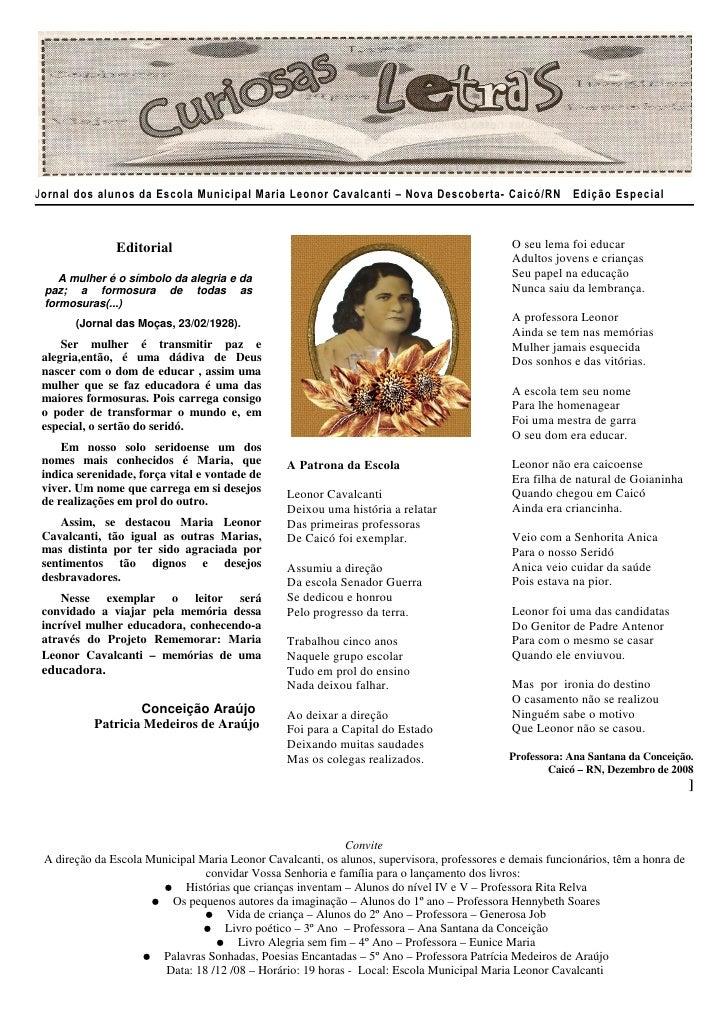 Jornal Curiosas Letras
