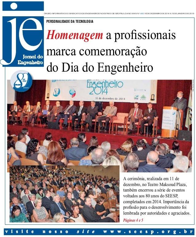 órgão informativo do sindicato dos engenheiros no estado de são paulo Ano XXxIv nº 466 16 de dezembro de 2014 a 15 de jane...