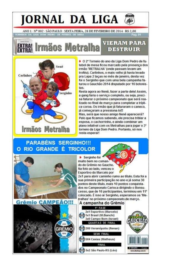 Jornal da liga 2 edicao (fevereiro)