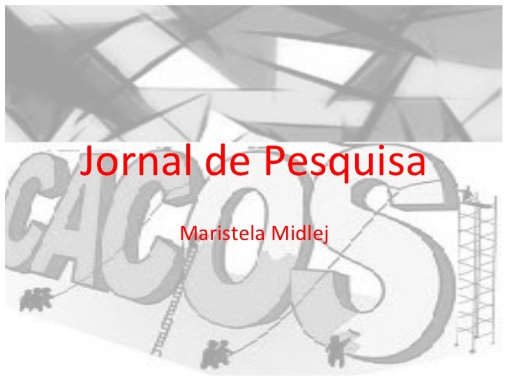 Jornal de Pesquisa Maristela Midlej