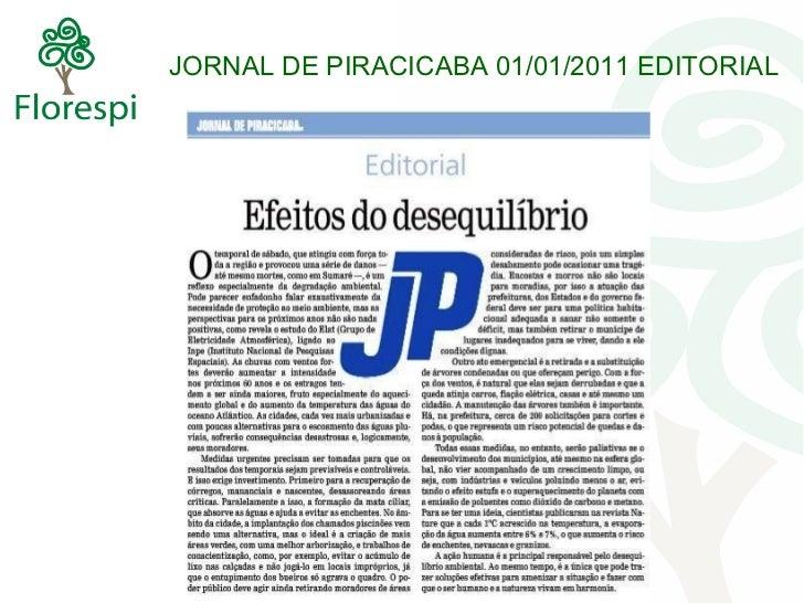 JORNAL DE PIRACICABA 01/01/2011 EDITORIAL