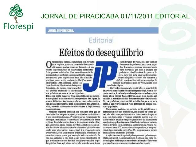 JORNAL DE PIRACICABA 01/11/2011 EDITORIAL