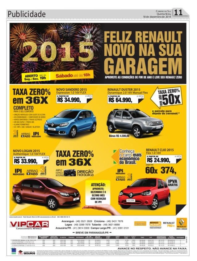 Publicidade 11CORREIO DO SUL Quinta-feira, 18 de dezembro de 2014