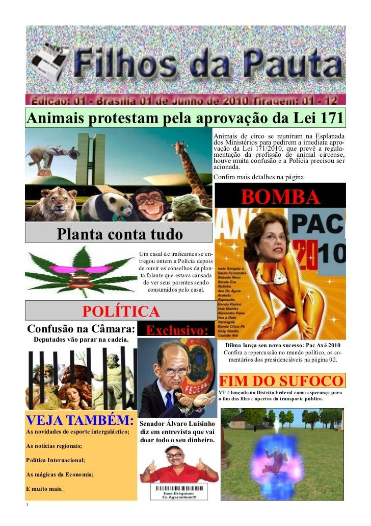 Animais protestam pela aprovação da Lei 171                                                                           Anim...