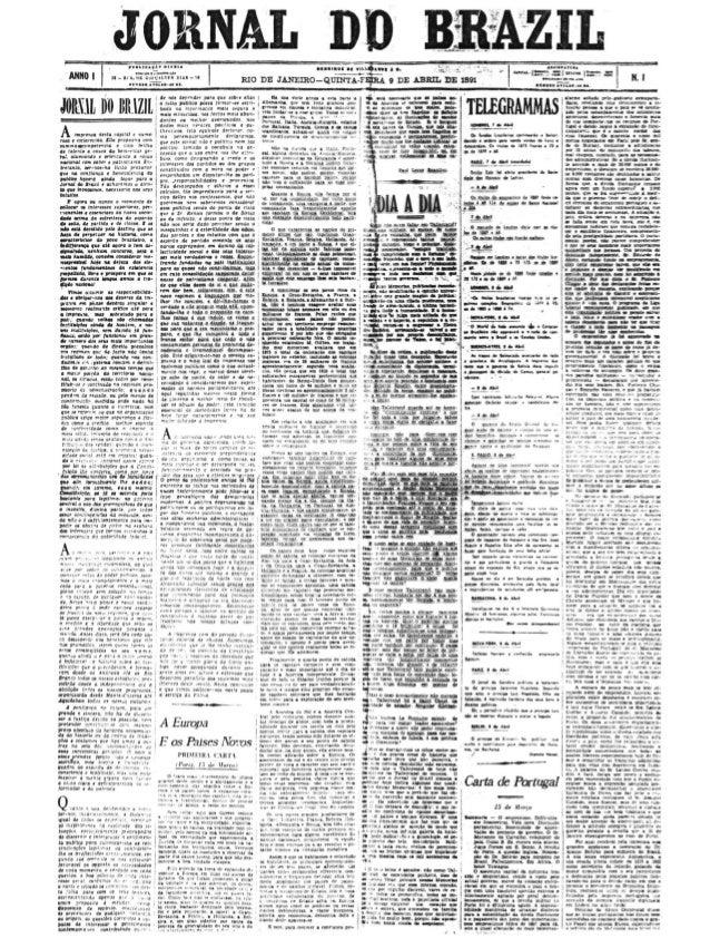 Jornal do Brasil primeira edição