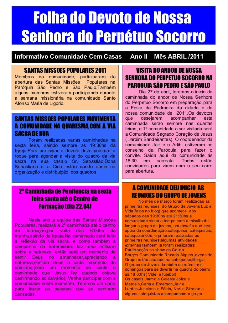 Jornal do mes de abril 2011