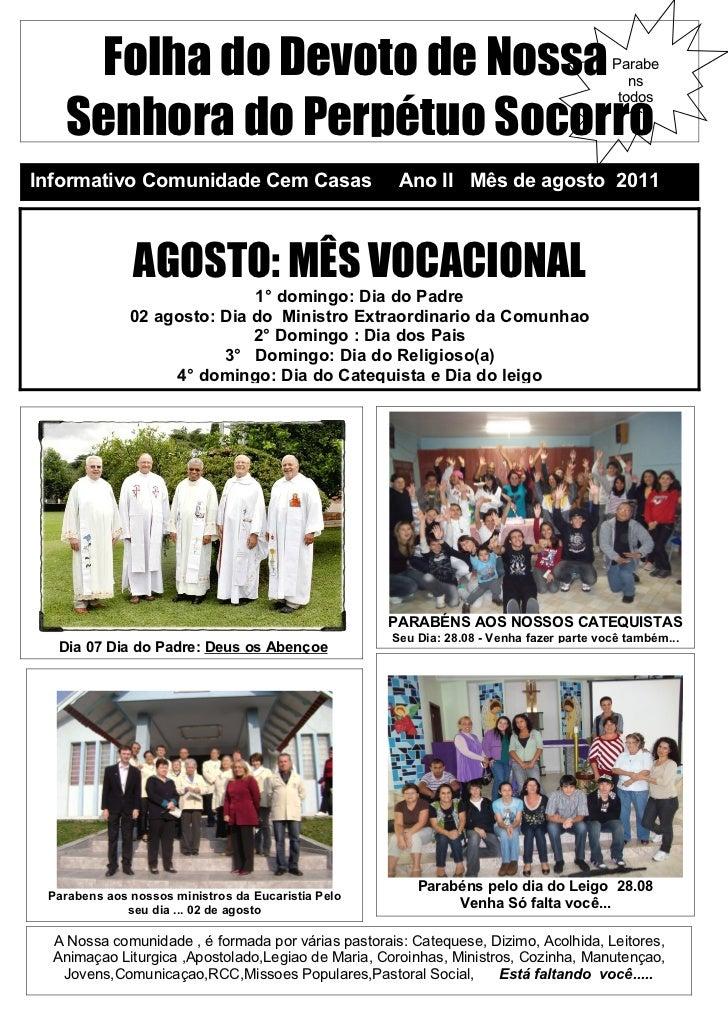 Folha do Devoto de Nossa                                                             Parabe                               ...
