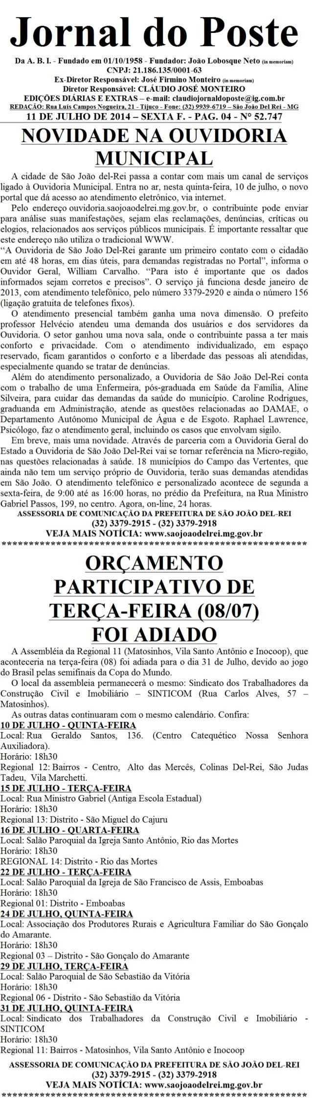 Jornal do poste 33 b 3