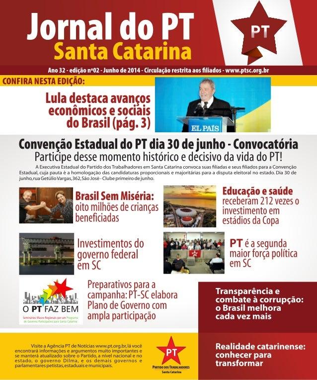 Jornal do PT-SC (Junho 2014)