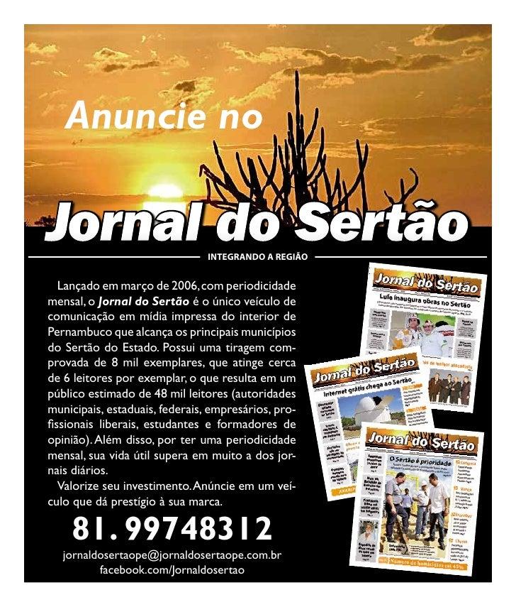 24        Anuncie no     Jornal do Sertão                INTEGRANDO A REGIÃO        Lançado em março de 2006, com periodic...