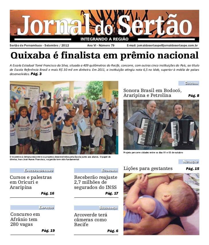 Sertão de Pernambuco - Setembro / 2012                                    Ano VI - Número 79              E-mail: jornald...