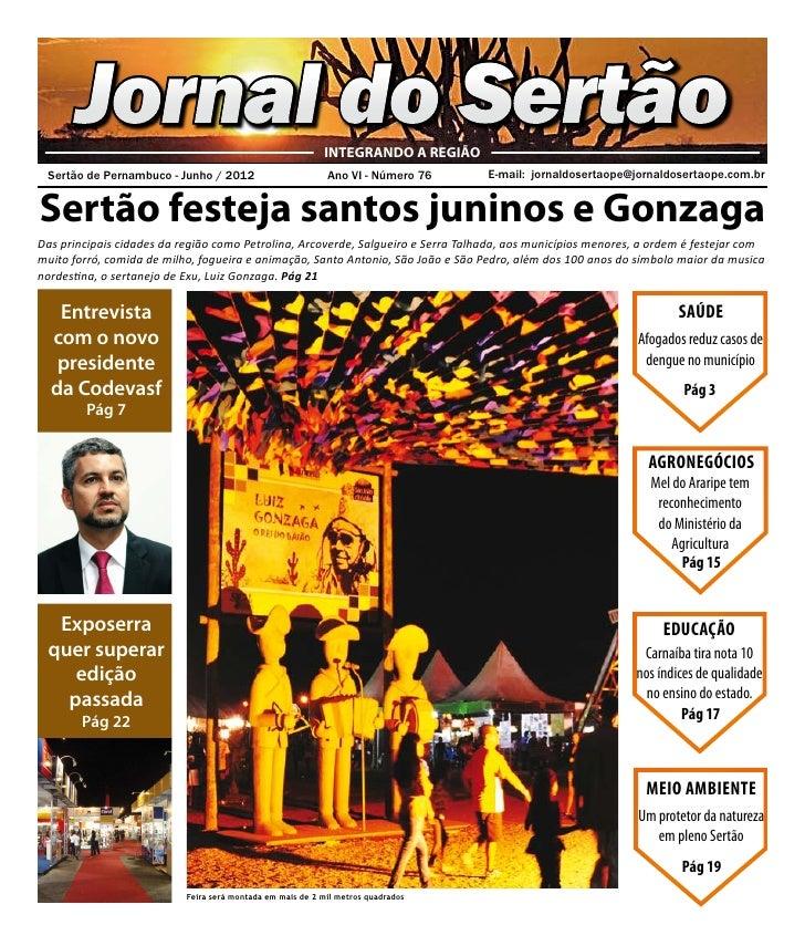 Jornal do Sertão                                    INTEGRANDO A REGIÃO Sertão de Pernambuco - Junho / 2012              ...