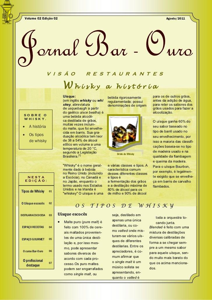 Volume 02 Edição 02                                                                               Agosto/2011Jornal Bar - ...