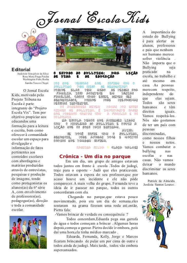 Jornal EscolaKids                                                                                         A importância do...