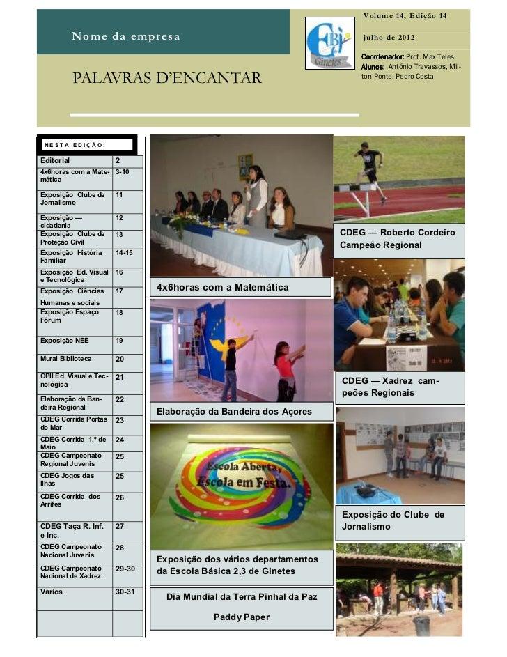 Volume 14, Edição 14            Nome da empresa                                                 julho de 2012             ...