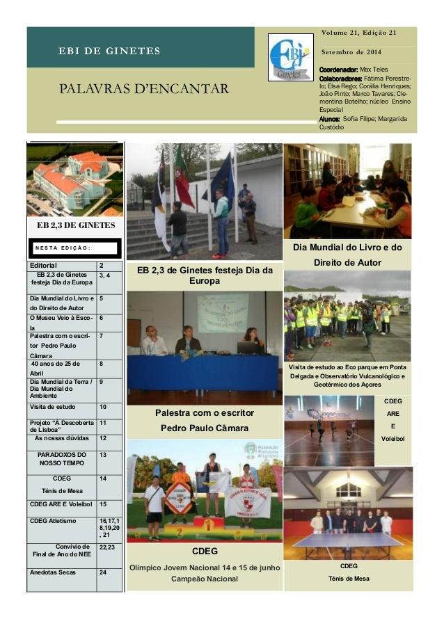 EBI DE GINETES Volume 21, Edição 21 Setembro de 2014 N E S T A E D I Ç Ã O : Coordenador:Coordenador:Coordenador:Coordenad...
