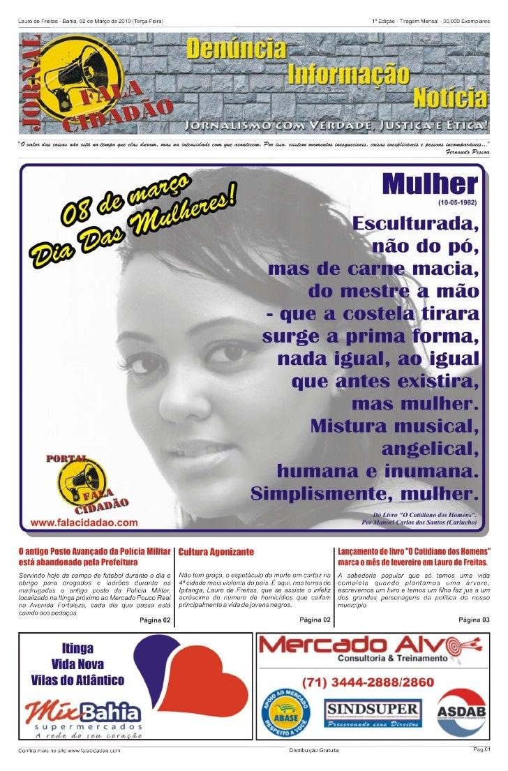 Jornal fala cidadão - 1ª Edição