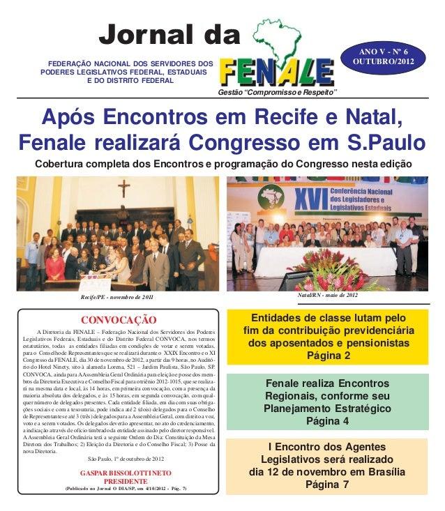 Jornal da                                                                                        ANO V - Nº 6          FED...