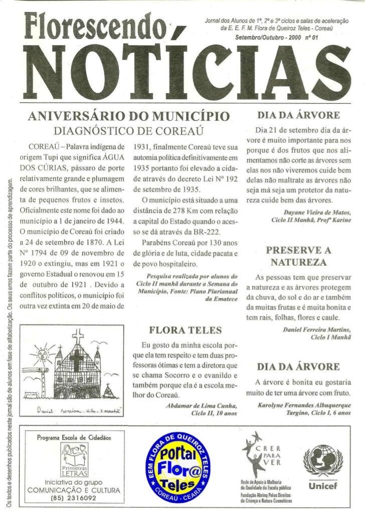Jornal florescendo notícias 01